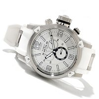 INVICTA MEN'S RUSSIAN DIVER ANNIV EDITION SWISS CHRONO PU STRAP WATCH