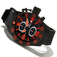 INVICTA MENS CORDUBA QUARTZ CHRONO PU STRAP WATCH W/3DC