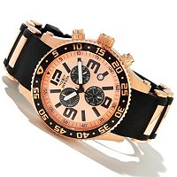INVICTA MEN'S SEA SPIDER QUARTZ CHRONO PU BRACELET WATCH