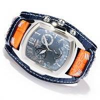 INVICTA MEN'S LUPAH GRAND QUARTZ CHRONO LEGARTO LEATHER STRAP WATCH