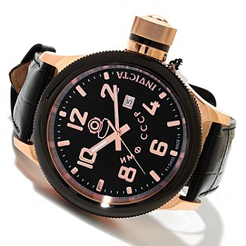 618-875 - Invicta Men's Russian Diver Swiss Quartz Leather Strap Watch