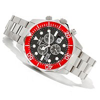 INVICTA MEN'S GRAND DIVER QUARTZ CARBON FIBER DIAL BRACELET WATCH