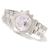 RENATO WOMEN'S BEAUTY DIAMOND MOONPAHSE BRACELET WATCH