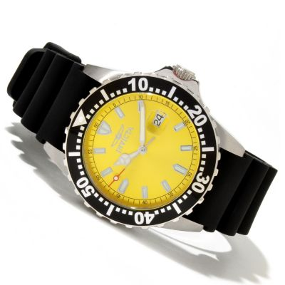 618-898 - Invicta Men's Pro Diver Sport Quartz Sunray Strap Watch w/ 3-Slot Dive Case