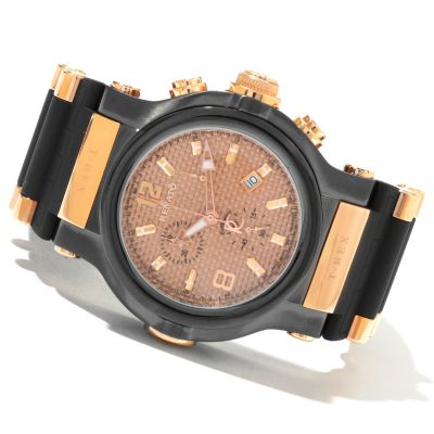 618-900 - Renato Men's T-Rex Swiss Quartz Chronograph Rubber Strap Watch