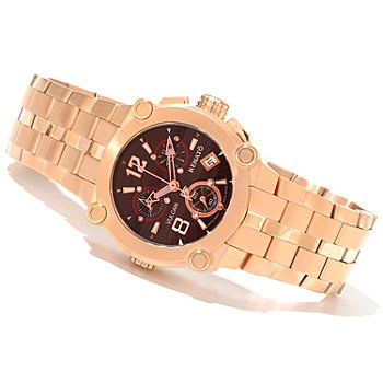 618-901 - Renato Women's Vulcan Limited Edition Swiss Quartz Chronograph Diamond Accented Bracelet Watch