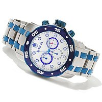 TTV INVICTA MEN'S SCUBA QUARTZ CHRONO STAINLESS BRACELET WATCH