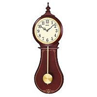 SEIKO CLASSIC SWINGING PENDULUM WOODEN WALL CLOCK