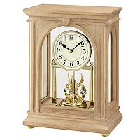 SEIKO GRAND ROTATING CRYSTALS PENDULUM MANTEL CLOCK