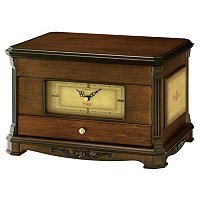 SEIKO FLORAL ACCENTED JEWELRY STORAGE CLOCK