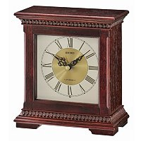 SEIKO CLASSIC MUSICAL WOODEN DESK CLOCK
