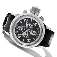 INVICTA MEN'S RUSSIAN DIVER QUARTZ CHRONO STRAP WATCH