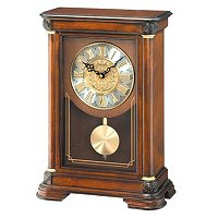 SEIKO GRAND ORNAMENTAL DIAL SWINGING PENDULUM MANTEL CLOCK