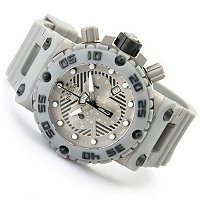 INVICTA MEN'S SUBAQUA NITRO SWISS CHRONO STAINLESS CASE POLY STRAP WATCH W/ 3DC