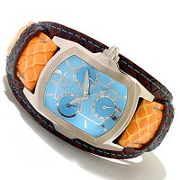 INVICTA WOMEN'S LUPAH COUTURE QUARTZ CHRONO LEGARTO LEATHER STRAP WATCH
