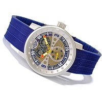 GV2 by Gevril Men's Powerball Swiss Made Quartz Rubber Strap Watch