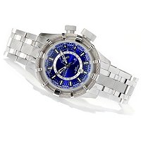 INVICTA RESERVE MEN'S BOLT QUARTZ GMT STAINLESS STEEL BRACELET WATCH