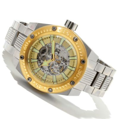 619-156 - Android Grand (50mm) or Mid-Size (46mm) Powerjet Automatic Skeletonized Dial Bracelet Watch