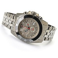 ONISS MEN'S CERAMIC & STAINLESS STEEL SWISS CHRONOGRAPH BRACELET WATCH