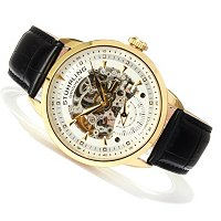 Stuhrling Original Men's Executive Automatic Leather Strap Watch