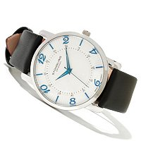 Stuhrling Original Men's Corona Quartz Ultra Slim Leather Stap Watch