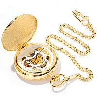 Stauer Men's 1760 Skeleton Pocket Watch