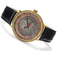 Stauer Men's 18th Century Spanish Silver Reale Timepiece Strap Watch