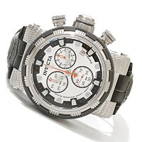 INVICTA RESERVE MEN'S CAPSULE SWISS QUARTZ CHRONO LEATHER STRAP WATCH W/ 3DC