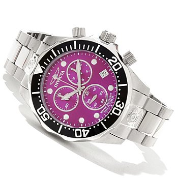 619-213 - Invicta Men's Pro Diver Grand Diver Swiss Quartz Chronograph Stainless Steel Bracelet Watch