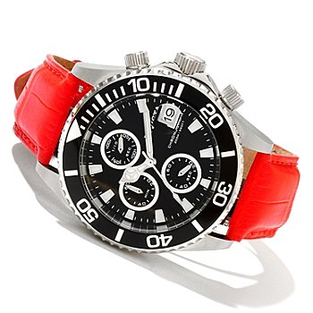 619-362 - Invicta Midsize Pro Diver Quartz Chronograph Alligator Strap Watch