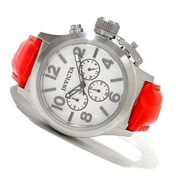 619-365 - Invicta Men's Corduba Quartz Chronograph Alligator Strap Watc