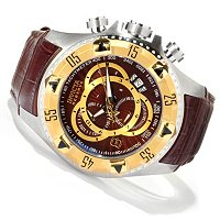 INVICTA RESERVE MENS EXCURSION ELEGANT TOURING SWISS QUARTZ CHRONO STRAP WATCH