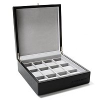 Leatherette 12 Slot Collector Watch Box