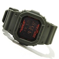 CASIO G SHOCK MILITARY 5600 SERIES SOLAR POWERED SELF- CHARGING STRAP WATCH