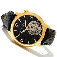 Stuhrling Original Men's Eclipse Mechanical Tourbillon Leather Strap Watch