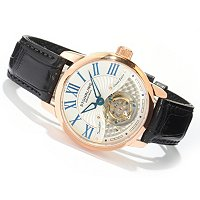 Stuhrling Original Men's Dynasty Tourbillon Mechanical Strap Watch