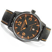 Stuhrling Original Men's Tuskegee Flier Automatic Leather Strap Watch