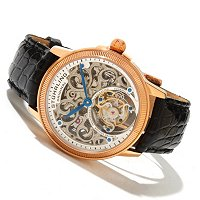 Stuhrling Original Men's Limited Edition Mirage Tourbillon Strap Watch