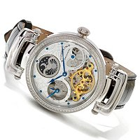 Stuhrling Original Men's Magistrate Automatic Skeleton Strap Watch