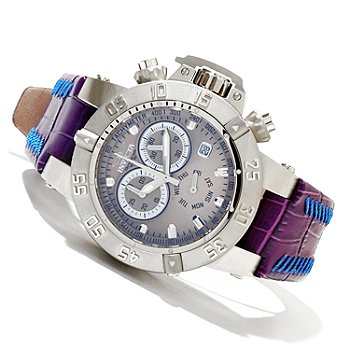 619-487 - Invicta Women's Subaqua Noma III Quartz Chronograph Stainless Steel Leather Strap Watch