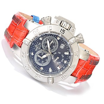 619-489 - Invicta Women's Subaqua Noma III Quartz Chronograph Stainless Steel Leather Strap Watch