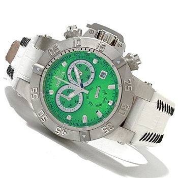 619-491 - Invicta Women's Subaqua Noma III Quartz Chronograph Stainless Steel Leather Strap Watch