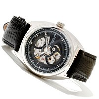Stuhrling Original Men's Tandem Automatic Leather Strap Watch