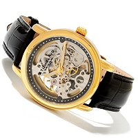 Stuhrling Original Men's or Women's Delphi Mechanical Skeleton Strap Watch