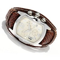 INVICTA MEN'S LUPAH SWISS QUARTZ CHRONOGRAPH LEATHER LAGARTO STRAP WATCH