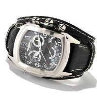 INVICTA MEN'S GRAND LUPAH SWISS QUARTZ CHRONO LEATHER LAGARTO STRAP WATCH