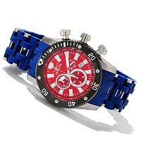 INVICTA MEN'S SEA SPIDER QUARTZ CHRONOGRAPH PU BRACELET WATCH