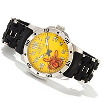 INVICTA MEN'S SEA SPIDER QUARTZ PU BRACELET WATCH