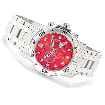 619-545 - Invicta Men's Pro Diver Scuba Quartz Chronograph Stainless Steel Bracelet Watch