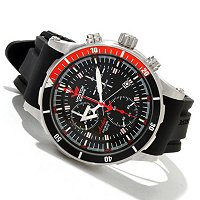 Vostok-Europe Anchar Quartz Tritium Tube Sweep Chrono Watch w/ Extra Straps